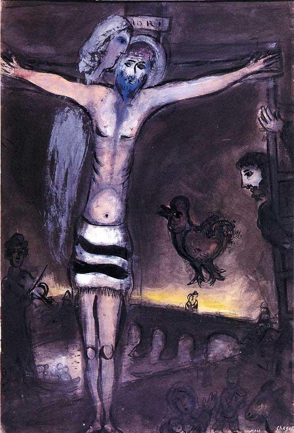 Cristo sul ponte-Chagall