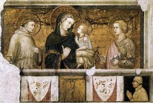basilica inferiore madonna col bambino